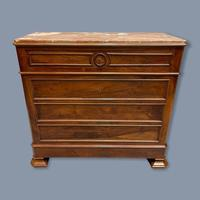 French Charles X Style Marble Top Commode (7 of 9)