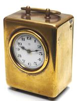 Antique Travelling Miniature Carriage Clock – Wonderful Dial Alarm Feature by Junghans (2 of 6)