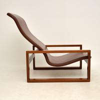 Vintage 1960's Leather & Rosewood Armchair (10 of 12)