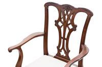 Set of 8 (6+2) mahogany dining chairs Georgian revival C1910 (5 of 11)