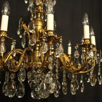 Italian Gilded & Crystal 12 Light Antique Chandelier (2 of 9)