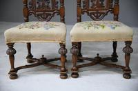 Pair William & Mary Style Chairs (4 of 12)