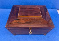 William IV Rosewood Box with Boxwood Inlay (2 of 10)