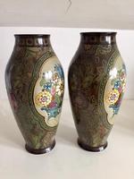 Pair of Large Antique Royal Bonn Vases - Art Nouveau (4 of 9)