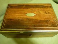 Quality Fully Brass Bound Rosewood Writing Box. Many Features. C1875 (15 of 16)