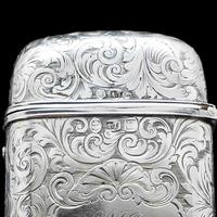 Victorian Solid Silver Cheroot / Cigar Case with a Hand-Engraved Hunting Scene - Alfred Taylor 1853 (12 of 15)