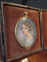 Antique Miniature Portrait in Original Case (9 of 9)