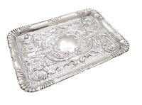 Antique Edwardian Sterling Silver Dressing Tray  1905 (8 of 8)