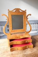 Swedish Birch / Masurbjörk Box Mirror Rococo style c.1820 (8 of 15)