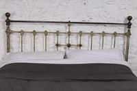 Lovely Individual Victorian Brass & Iron King Size Bed (9 of 13)