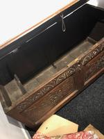 Carved Antique Coffer, English Oak Joined Chest, Trunk, c.1700 (6 of 8)