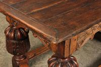 Large 18th Century Carved Oak Dining Table (8 of 21)