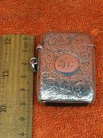 Antique Sterling Silver Hallmarked Large Vesta Case Sirus 1900, Horton & Allday (6 of 9)