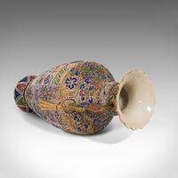 Pair Of Tall Antique Satsuma Vases, Japanese, Ceramic, Decorative, Moriage, 1900 (8 of 12)