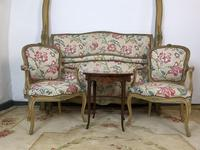 French Roll End Style Double Bed Frame With Matching Armchairs & Side Table (7 of 17)
