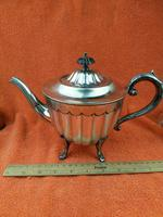 Antique Silver Plate Sheffield Teapot - Art Deco  C1920 (2 of 11)