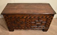 17th Century Oak Geometric Oak Coffer (6 of 8)