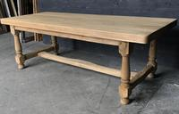 Bleached Oak Wide Farmhouse Dining Table (12 of 15)