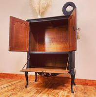French Antique Style Cabinet / Black Cupboard / Louis XV Style (5 of 10)