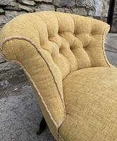 Small Antique Victorian Upholstered Salon Chair (16 of 17)