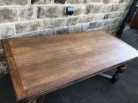 "Large Antique Oak 10ft 6"" Extending Dining (7 of 12)"