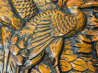 Chinese Camphor Wood Carved Birds & Flowers Chest Coffee Table (11 of 34)