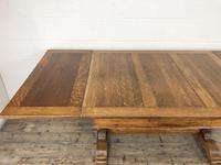 Early 20th Century Oak Draw Leaf Table (10 of 17)