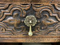 Good Carved Oak Pedestal Desk (9 of 18)