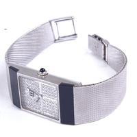 Lady 18ct Omega White Gold & Diamond Mechanical Dress Wrist Watch (3 of 4)
