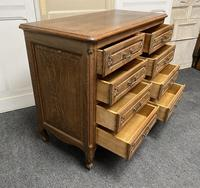 Stylish French Oak Chest of Drawers (6 of 18)