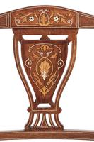 Set of 4 Edwardian Rosewood Inlaid Dining Chairs (4 of 7)