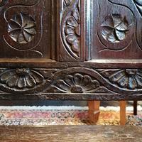 Stunning Heavily Carved Gothic Revival Oak Settle (12 of 14)