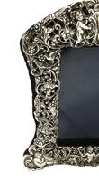 "Antique Edwardian Sterling Silver 8"" Photo Frame 1903 (8 of 11)"