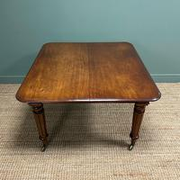 Large Stunning  Victorian Figured Mahogany Antique Wind Out Dining Table (5 of 9)