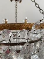 A Single Light French Waterfall Chandelier (8 of 8)