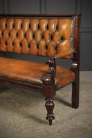 Rare Victorian Buttoned Leather Snooker Bench (13 of 17)