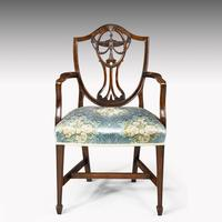 Elegant Set of 8 Early 20th Century Classical Hepplewhite Chairs (2 of 6)