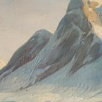 Emanuel A Petersen, Arctic Landscape With Inuit, Oil Painting (7 of 8)