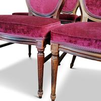 Set of Six Victorian Walnut Balloon Back Chairs (5 of 6)