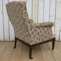 Antique Napoleon III High Back Armchair (3 of 8)