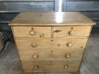 Victorian Large Stripped Pine Chest of Drawers (6 of 6)