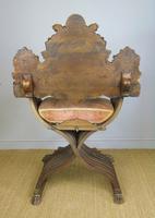 Outstanding Italian Walnut Savonarola Chair (8 of 12)