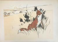 3 Original Chromolithographs by Cecil Aldin 1870-1935 of Pheasants & Foxes, Signed or Initialled 1900 (3 of 3)