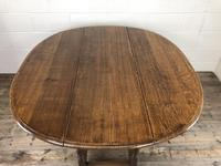 Early 20th Century Antique Oak Gateleg Dining Table (11 of 13)