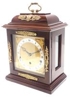 Superb Mahogany Caddy Top Mantel Clock Dual Musical Bracket Clock by Elliott (3 of 9)