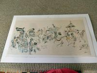 """William Papas """"Tea Board, India  """" Mixed Media Painting 1970's - 3 of 6 Listed (4 of 7)"""