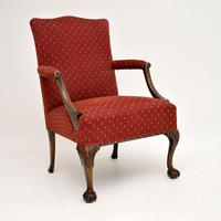 Pair of Antique Mahogany Chippendale Style Armchairs (8 of 12)