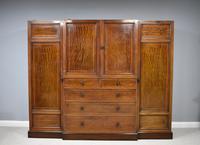 19th Century Mahogany Breakfront Wardrobe (11 of 12)