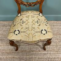Elegant Set of 6 Victorian Walnut Antique Dining Chairs (7 of 9)