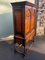 Antique Oak Barley Twist Cabinet on Stand (7 of 10)